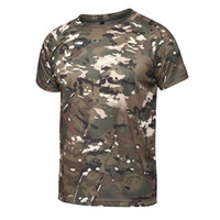 ingrosso uomo casuale di jersey dell'esercito-2018 Estate 3D T-Shirt Uomo Top Casual T-shirt manica corta Army T-shirt Uomo O-Neck Quick Dry Punk Tees Jersey uomo T Shirt