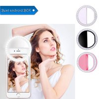 Wholesale box for led lamp resale online - Manufacturer charging LED flash beauty fill selfie lamp outdoor selfie ring light rechargeable for all mobile phone with Retail Box