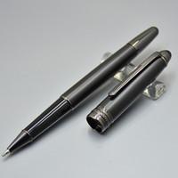 écoles stationnaires achat en gros de-Haute qualité Meisterstcek 163 Matte Black Rollerball stylo à bille fournitures de bureau stationnaire fournitures de bureau avec numéro de série Monte XY2006108
