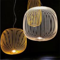 luz colgante pájaros al por mayor-Post Modern Foscarini Spokes Luces colgantes Industrial Bird Cage Luminaria Comedor Sala de estar Decoración para el hogar Lámpara colgante Led