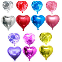 globos de lámina de oro en forma de corazón al por mayor-18 pulgadas en forma de corazón romántico Foil Balloons Wedding Bithday Party Decor Globos de aluminio Baby Shower Party Decoration Globos Juguetes para niños