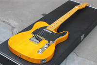 ko großhandel-NEW Custom Shop Deluxe Maple Telecaster Butterscotch Blonde Natur Tele E-Gitarre 1952 Amerikanischer Ahorn Hals Dot Inlay auf Lager