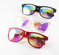güneş gözlüğü müziği toptan satış-Kaleidoscope Güneş Çocuklar Retro Tırnak Güneş Gözlüğü Erkek Kadın Fantezi Gözlük Moda Müzik Şenlikli Parti Dekoratif Gözlük GGA2208