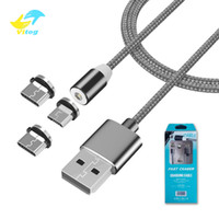 Wholesale Vitog IN Magnetic Charger Micro USB Cable For Samsung Android Fast Charging Magnet USB Type C Cable Cord Wire all cellphones