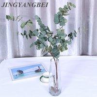 ingrosso matrimonio 88-88 cm Piante artificiali Rami di eucalipto Piante di seta Disposizione dei fiori Autunno Autunno Casa Matrimonio Decorazione per feste Foglia Wreat