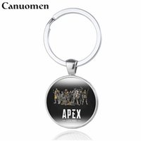 брелки для мальчиков оптовых-Canuomen Apex Legends Keychains 2019 New Game Logo chaveiro Fashion Handmade Key chains Boys Children Gift Key Rings Jewelry