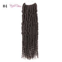 Wholesale african hair twist braiding resale online - top quality soft g Bomb twist braiding hair Bomb Synthetic Crochet Braids Hair Extension Pre looped Fluffy Twist Braids African Bundles