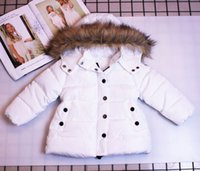 Wholesale infant boys preppy clothes resale online - Retail colors kids winter coats boys girls thick warm padded jacket down coat infant baby hooded jackets outwear children clothing off