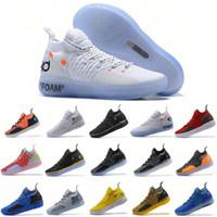 laranja sapatos de basquetebol tamanho 12 venda por atacado-Mens Formadores Nova Zoom KD 11 EP Branco Laranja Espuma Paranoid Rosa Oreo Gelo Sapatos De Basquete Original Kevin Durant XI KD11 Tênis tamanho 7-12
