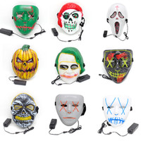 Wholesale cold gear for sale - Group buy Halloween LED Glowing Mask Creative Cosplay Halloween Third Gear Switching Flash Cold Light Mask Fashion Party Supplies TTA1696