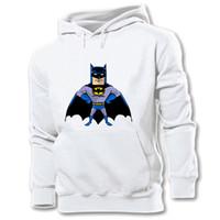 batman encapuchado al por mayor-Diseñador Superhéroe Bruce Wayne Batman Estilo literario Sudadera con capucha gráfica de algodón para hombre Sudadera con capucha de la personalidad