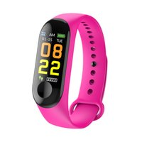 pulsera gps al por mayor-M3 Bluetooth Smart Sport Watch Wrist Band Fitness Tracker para Android IOS Smart Bracelet Sport Mode Tracker Wrist Smart band