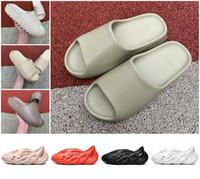 Wholesale 2020 kanye West Slipper Men Women Bone Earth Brown Desert Sand Slide Resin stylist shoes Sandals triple black Foam Runner Size