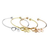 pulseira de letras venda por atacado-Moda Nó Pulseira com letras iniciais personalizado pulseira coração Monograma Bracelet Gift Bracelet Gift K2558