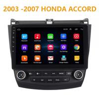 carro android dvd honda venda por atacado-10.1 polegadas Pure Android 8.1 Carro DVD Quad Core 16G ROM 1024 * 600 Tela Car Raio para Honda Accord 2003-2007 WIFI ESPELHO LIGAÇÃO bluetooth