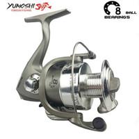 Wholesale salt water bait fish resale online - Yumoshi BB Feeder Metal Spinning Fishing Reels Wheel Salt Water Fishing Reel Olta Daiwa Bait Casting Reel