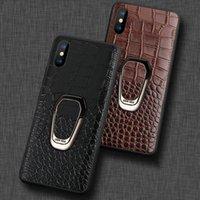 ingrosso iphone caso 3d auto-Luxury Car 3d copertura di cuoio di supporto magnetico cassa del telefono coccodrillo completa antiurto posteriore per iPhone 11 Pro Max 8 7 6 6S più
