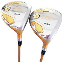 Wholesale free golf club drivers resale online - New Golf Clubs HONMA S Golf Fairway Wood Star wood driver Loft Graphite shaft R or S Golf shaft