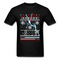 suéter de algodón negro al por mayor-Harajuku Camiseta de navidad Camiseta de hombre Ropa de luchador Regalo de Navidad Tops Camisetas de algodón Suéter Darth Vader Negro