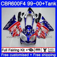 Wholesale 99 honda cbr f4 fairings for sale - Group buy Bodys Tank For HONDA CBR F4 FS CBR F4 glossy blue frame CBR600F4 HM CBR600FS CBR600 F CBR600 F4 Fairing kit