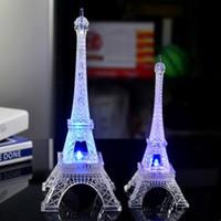 led-lichter turm eiffel großhandel-LumiParty Bunte Romantische Eiffelturm LED Nachtlicht Schreibtisch Hochzeit Valentinstag Schlafzimmer Dekorieren Lampe Kind Geschenk ZK30