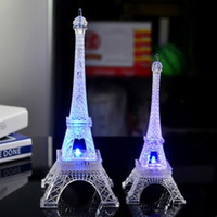 ingrosso lampada da tavolo della camera da letto-LumiParty Colorful romantico Torre Eiffel LED Night Light Desk matrimonio San Valentino Camera da letto Decorare Lampada bambino regalo ZK30