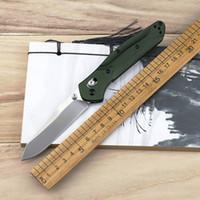 alüminyum rondelalar toptan satış-Kelebek BM 940 Bıçak Katlanır Bıçak Alüminyum Kolu Titanyum Mor Geri Klip Kolu Bakır Yıkayıcı Avcılık Açık Kamp Cep Surviv