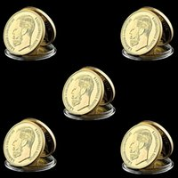 Wholesale russian art for sale - Group buy 5PCS Russian Emperor Nicholas II Tsar Russia Value Gold Plated oz Commemorative Coin