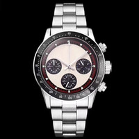 Wholesale vintage man luxury watches for sale - Group buy 2019 WATCH Chronograph Vintage Perpetual Paul Newman Japanese Quartz Stainless Steel Men Mens Watches Watch Wristwatches
