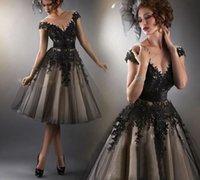 vestido curto preto semi formal venda por atacado-2019 Black Lace Curto Cocktail Dresses Festa de Formatura Mulheres Prom Plus Size Coctail Mini Semi Formal Vestidos