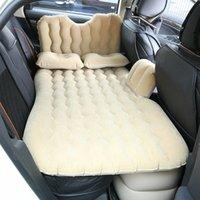auto betten für reisen großhandel-Multifunktionale Fahrzeug aufblasbares Bett 80 * 135CI Fahrzeugkopfschutz Reisebett Automobil aufblasbares Bett, in dem Auto cmfortable