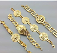 Wholesale mens tungsten chains resale online - 2019 HIP HOP Mens Bracelet for Women Bling Jewelry Gold Silver Color Chain Iced Out Rhinestones charms braclet