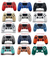 titreşim kutusu toptan satış-15 renkler luetooth PS4 için Kablosuz PS4 Denetleyicisi Titreşim Joystick Gamepad Sony Play Station için PS4 Oyun Denetleyicisi ile kutu Ambalaj