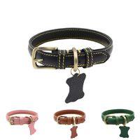 Wholesale vintage dog collar for sale - Group buy Vintage Heavy duty Rustproof Pet Collar Adjustable Dog Walk Neck Strap For Medium Large Dogs Quality Leather Dog Collar