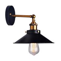metal abajur toptan satış-Amerikan Çatı Endüstriyel Duvar Lambaları Eski Başucu Duvar Işık Metal 22 cm Abajur E27 Edison Ampuller 110 V / 220 V