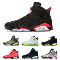baloncesto masculino negro rojo al por mayor-air jordan retro Nuevo rojo 6 zapatos de baloncesto Nuevo 2019 6s Hombres s Mujeres Hombre real Hombre Zapatillas de deporte de canasta tamaño 7-13