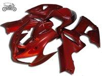 partes de la carrera de motos al por mayor-Personalizar partes de la motocicleta Kawasaki ZX6R carenados para 2005 2006 Ninja ZX 6R ZX636 05 06 ZX6R camino rojo de carreras de la carrocería carenado
