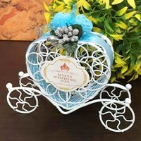 Wholesale cinderella wedding decorations resale online - Cute Lovely Cinderella Carriage Candy Chocolate Boxes Birthday Wedding Party Favour Decoration cm