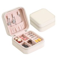 2019Womens Travel Portable Jewellery Box Organizer Mirror Jewel Storage Case UK