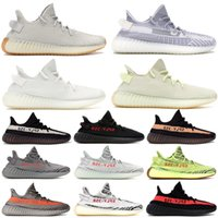 Wholesale frozen low shoes for sale - Butter Static V2 Designer Shoes Mens Bred Semi Frozen Yellow Sesame Kanye West Running Shoes womens Cream white Zebra Sply Sneakers