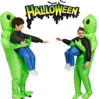 Wholesale alien cosplay for sale - Group buy halloween inflatable Monster Costume Green Alien Carrying Human Cosplay US halloween movie halloween costume ideas