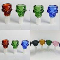Wholesale high grade glass pipes for sale - Group buy Glass Skull Shishas Multicolour Hookah Shisha Strange Smoking Bong Household Sundries Highs Grade Water Pipe Factory Direct hy E2