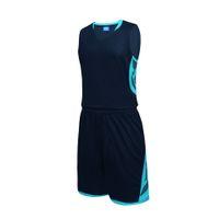 нарисуйте наборы оптовых-Новые Мужчины Женщины Баскетбол Трикотажные Комплекты Униформа Командный Спорт Комплект Одежда Рубашки Шорты Костюмы Карманы Дышащий Обычай Печати Draw