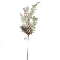 ingrosso decorazione bacca-Fiore artificiale per la decorazione del partito 6pcs Ornamento di Natale Pine Needle Pine Branch Pine Fruit Red Berry Home Decor