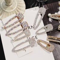 clips achat en gros de-Xugar Accessoires De Cheveux Cristal Strass Épingles À Cheveux pour Filles Brillant Géométrique Rectangle Waterdrop Pinces À Cheveux pour Femmes
