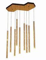 длинные стальные прутки оптовых-Дизайнер люстры Сид бара ресторана простой длинной трубки нержавеющей стали цилиндрический освещает света бара декоративные