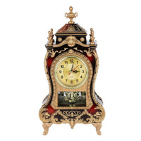ingrosso orologi da tavolo antichi-Orologio da tavolo in plastica stile vintage Orologio da tavolo decorativo per hotel antichi (rosso brunastro) 2019