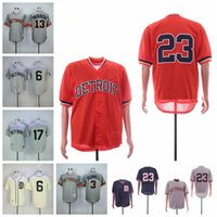 camisas de beisebol de tigre venda por atacado-Jersey de Detroit Alan Trammell dos homens Tigres Al Kaline Kirk Gibson Evocação de Mitchell e Ness Baseball Jerseys