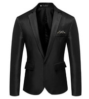 ingrosso vestiti sottili adatti gli abiti 46-Blazer da uomo Handsome Small Suit Slim Fit Blazer Groomsman Uomo Moda Business Casual Terno Masculino Blazer Dress