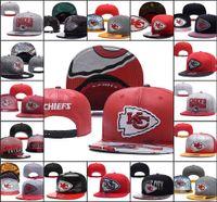 ingrosso beanie snapback-2019 Kansas Cappelli regolabili City Chiefs Embroidery Team Logo Snapback Tutti Team Wholeasle Knit Berretti Cappellini Taglia unica